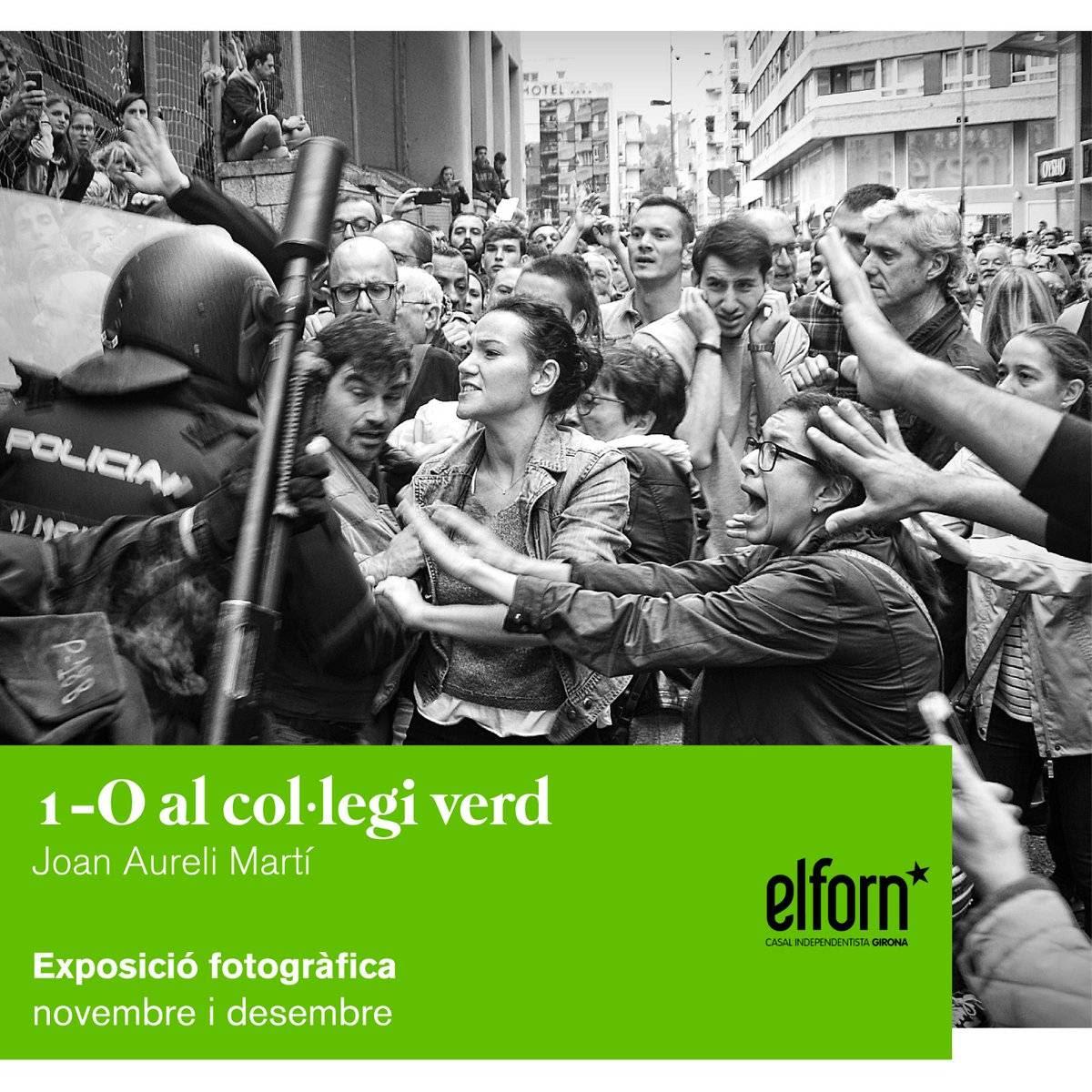 Exposició fotogràfica: '1-O al Col·legi Verd' al Casal Independentista El Forn