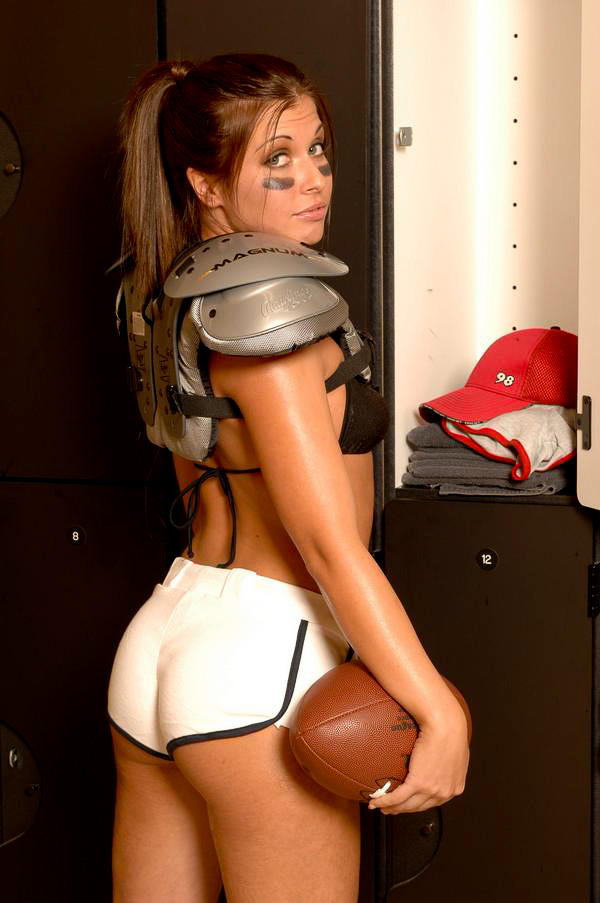 sexy girls in football pads