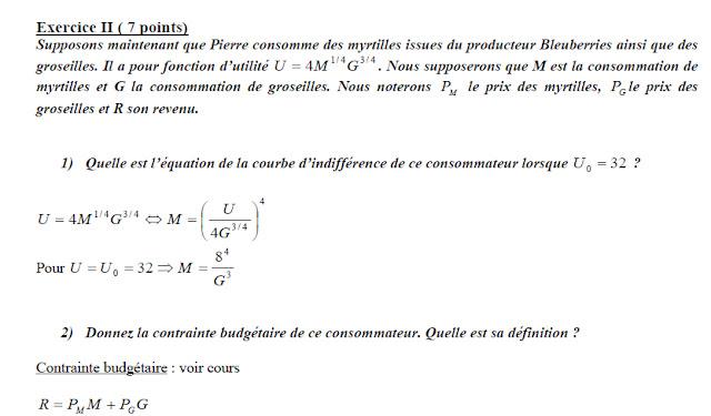 microéconomie exercices optimum du producteur