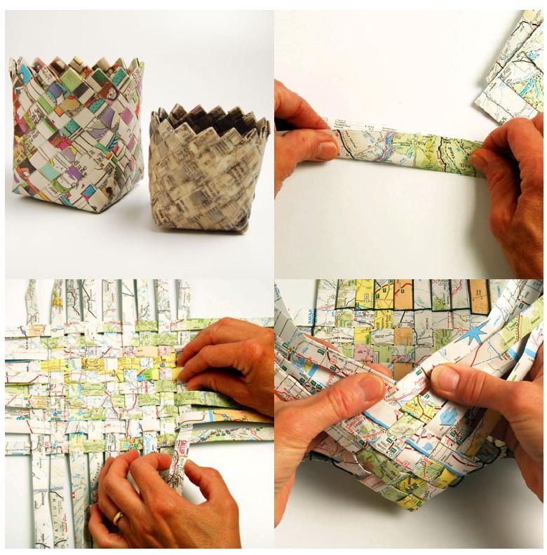 Magazine Paper Baskets Crafts