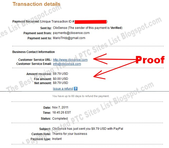 ClixSense - My First Pay Proof 11/8/2011  Paypal%2BPROOF%2B3