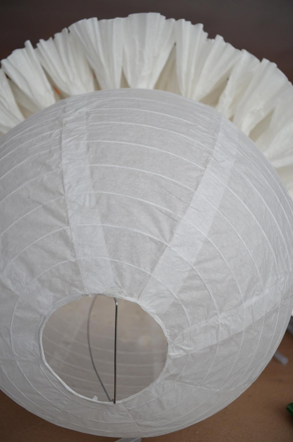 Weafer design diy coffee filter light pendant for Recycled paper lantern