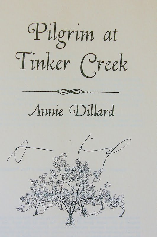 a short review of pilgrim at tinker creek a book by annie dillard Is a book of short nonfiction  read by annie dillard new york times review of  prize-winning writer annie dillard (tinker at pilgrim creek),.