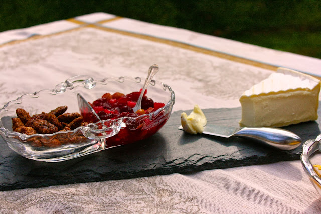 Savory Mixed Nuts & Cranberry Chutney with Brie or Double Creme Cheese