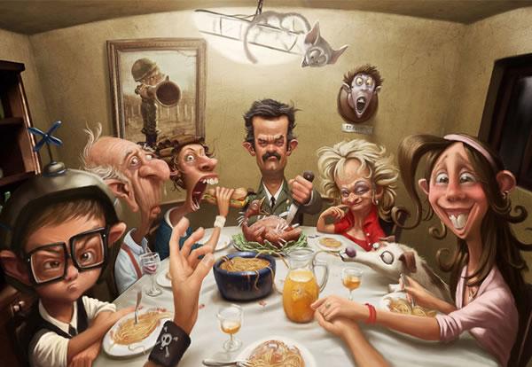 Art Sci: Funny Cartoon Paintings