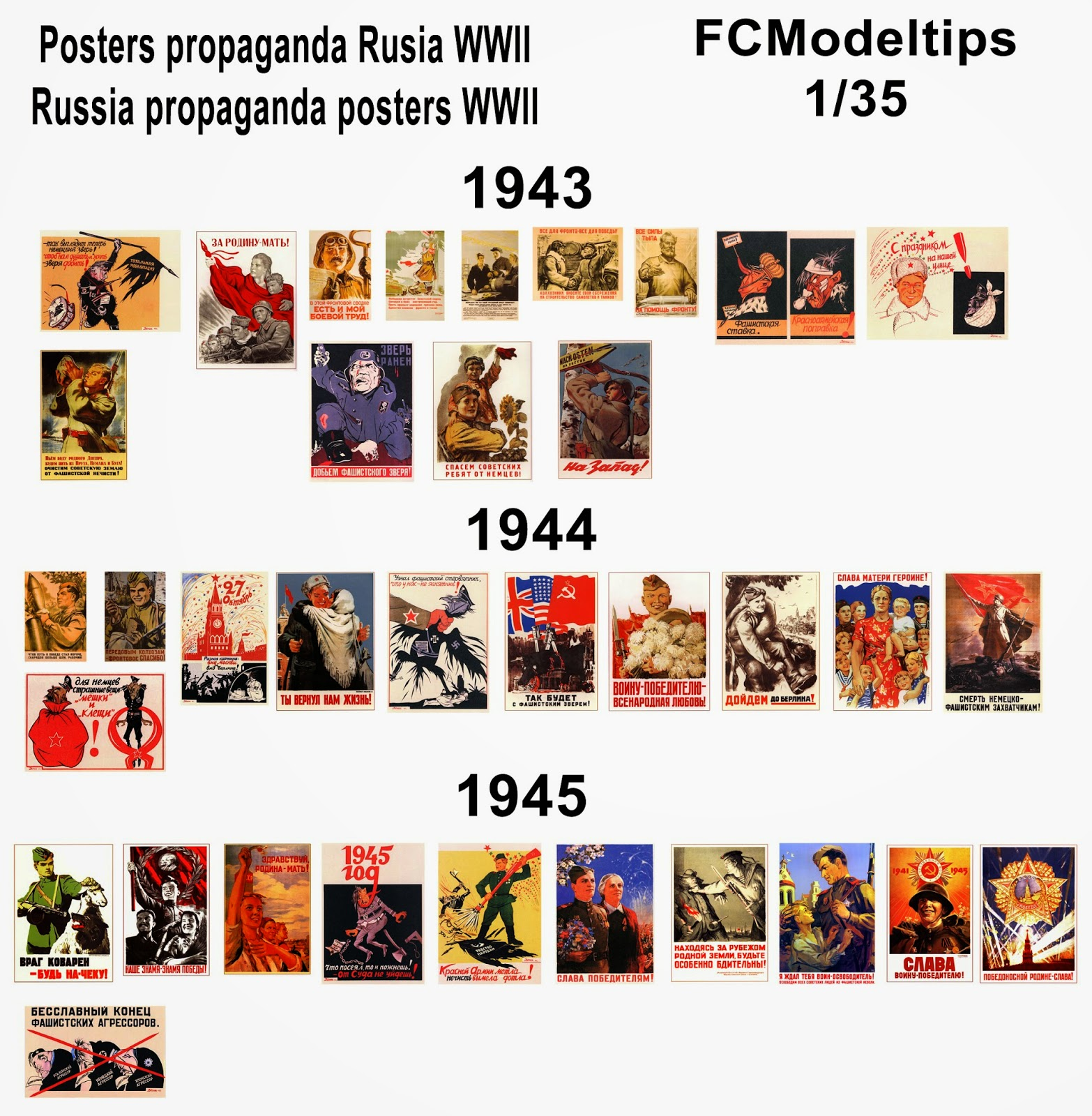 fcmodeltips federico collada posters rusia soviet WWII