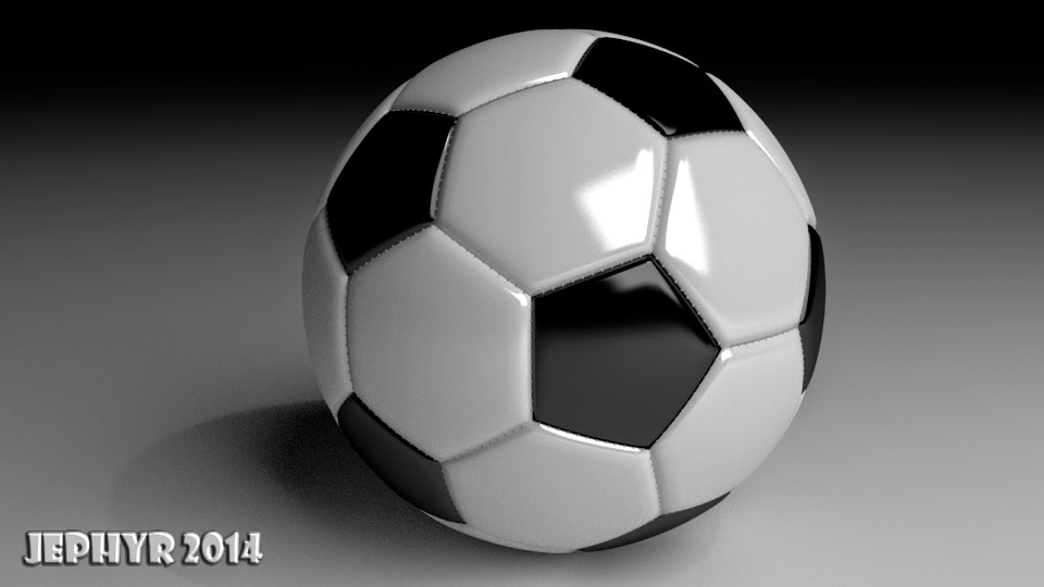 Blender 3D Soccerball:  Jephyr 2014