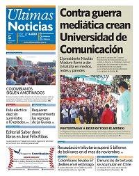 05/12/2019 PRIMERA PAGINA DE ULTIMAS NOTICIAS DE VENEZUELA