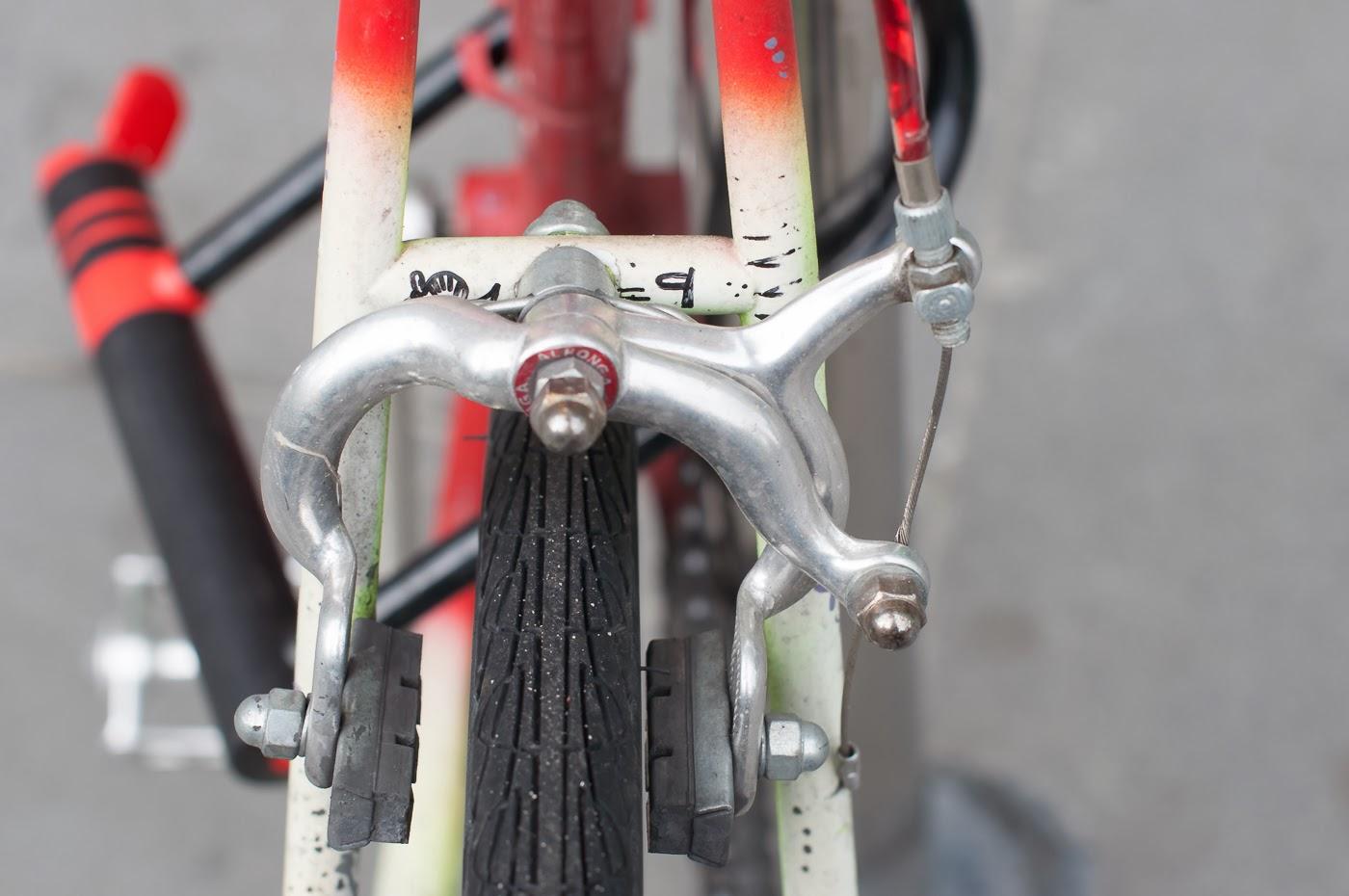 Pub bike, bike, bicycle, conversion, road bike, tim macauley, the biketorialist, Melbourne, Australia, swanston st, rear brake, side pull, brake