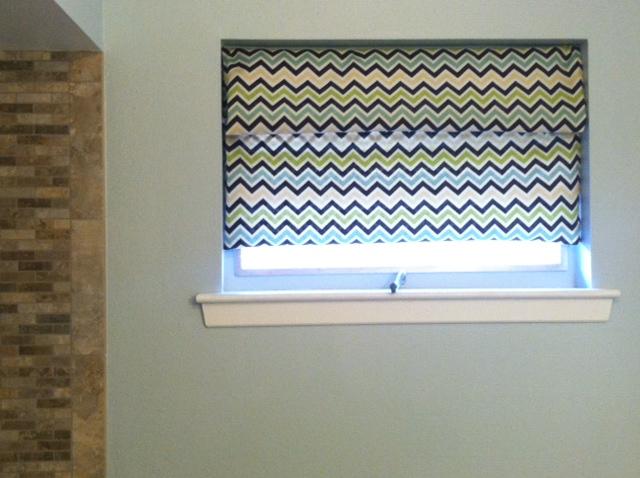 Bathroom Curtain Tutorial