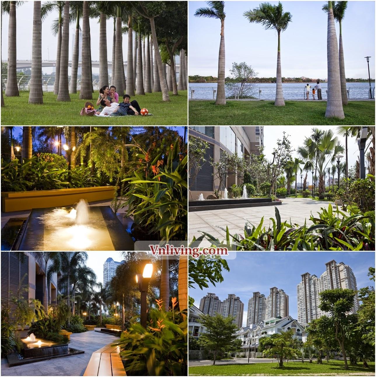 Green Paradise in Saigon Pearl bulding