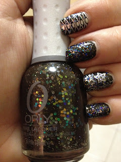 Orly Androgynie, Bundle Monster, Nail stamping