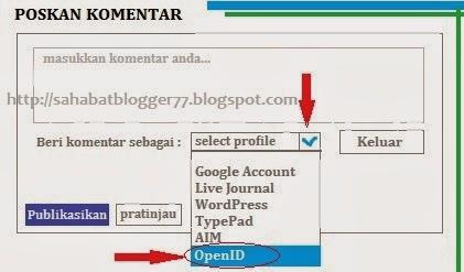 Gambar Kolom Komentar Dengan Profil OpenID