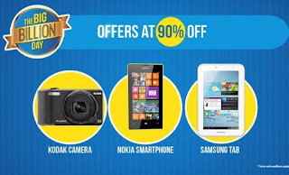 Flipkart Big Billion Days Sale Offers : 13th -17th October 2015