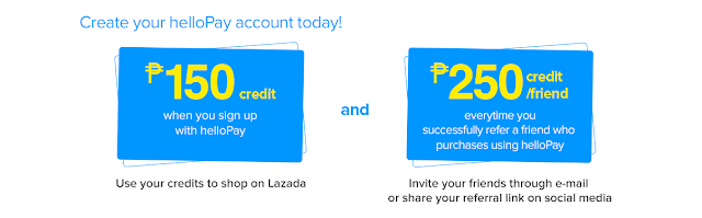 Get P150 FREE credits from helloPay