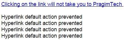 jquery prevent link click