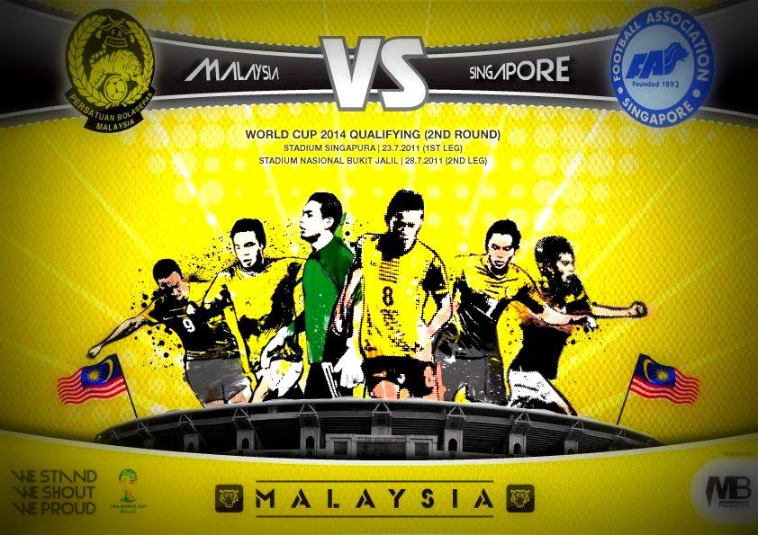 kedua kelayakan piala dunia zon asia antara Malaysia dengan Singapura