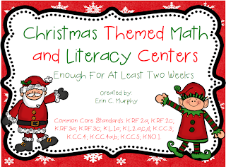 http://www.teacherspayteachers.com/Product/Christmas-Themed-Literacy-and-Math-Centers-1015763