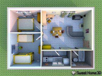 Ubuntu peronista dise tu casa peronista con sweet home for Como disenar una casa en 3d