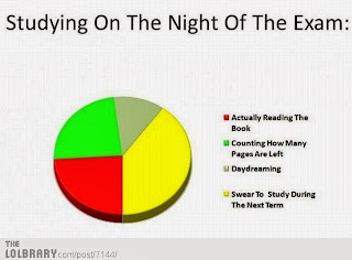 Pie chart. Finals. Broken promises.