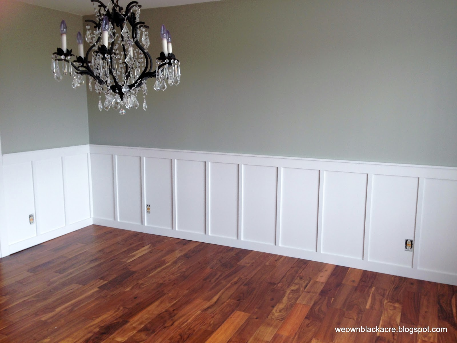 We own blackacre adventures with diy board and batten for Dining room wainscoting