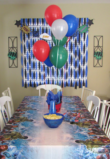 Avengers Party Table