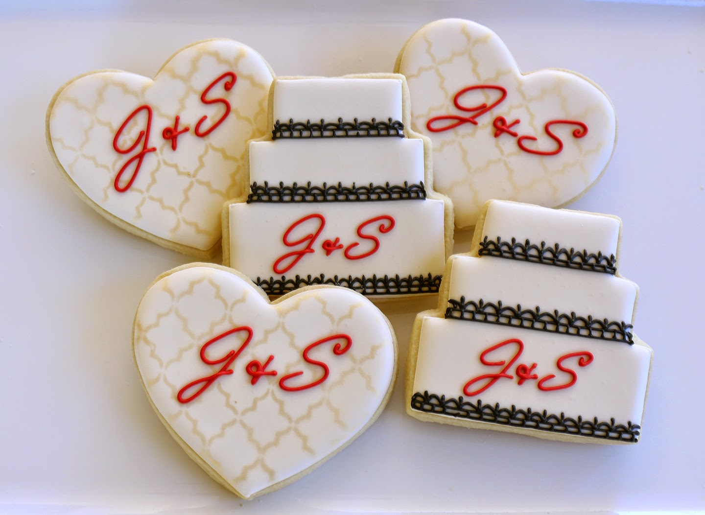 elegant bridal shower cookie favors