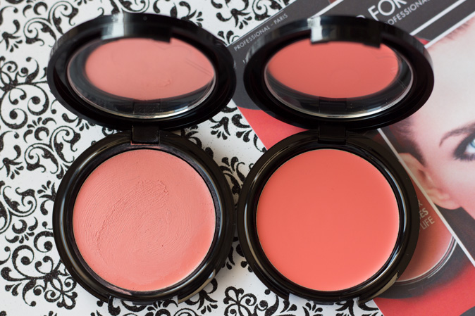 make up for ever hd cream blush in 215 and 410