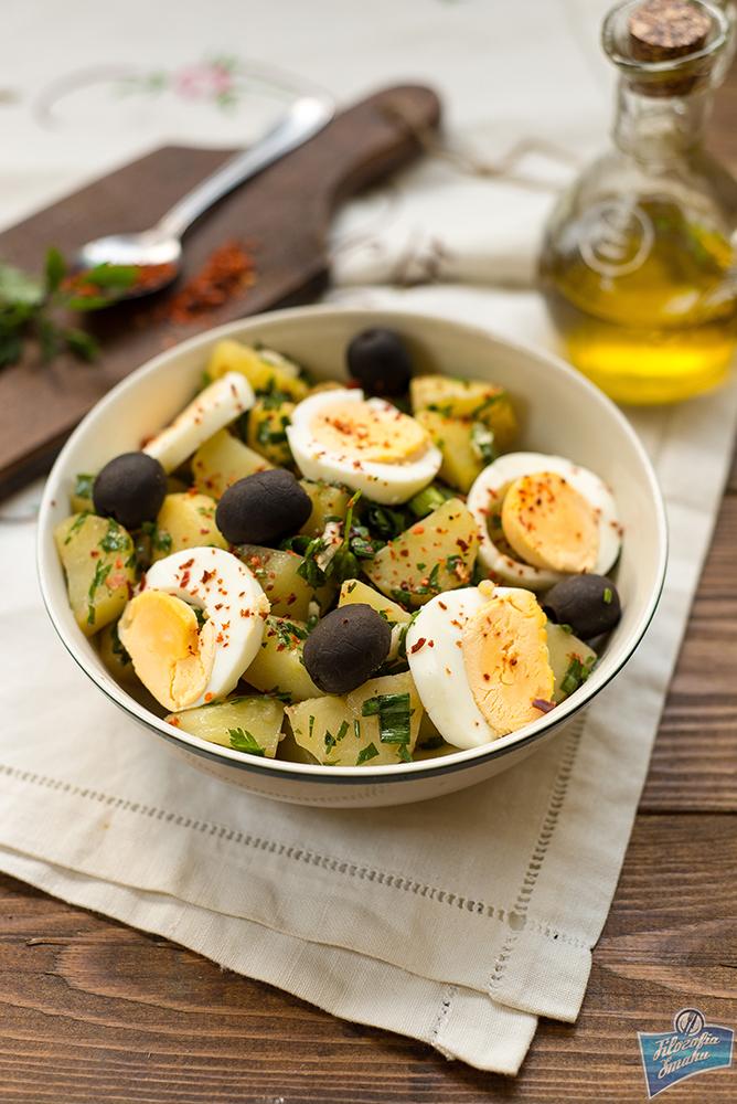 Sałatka z ziemniaków i jajek przepis