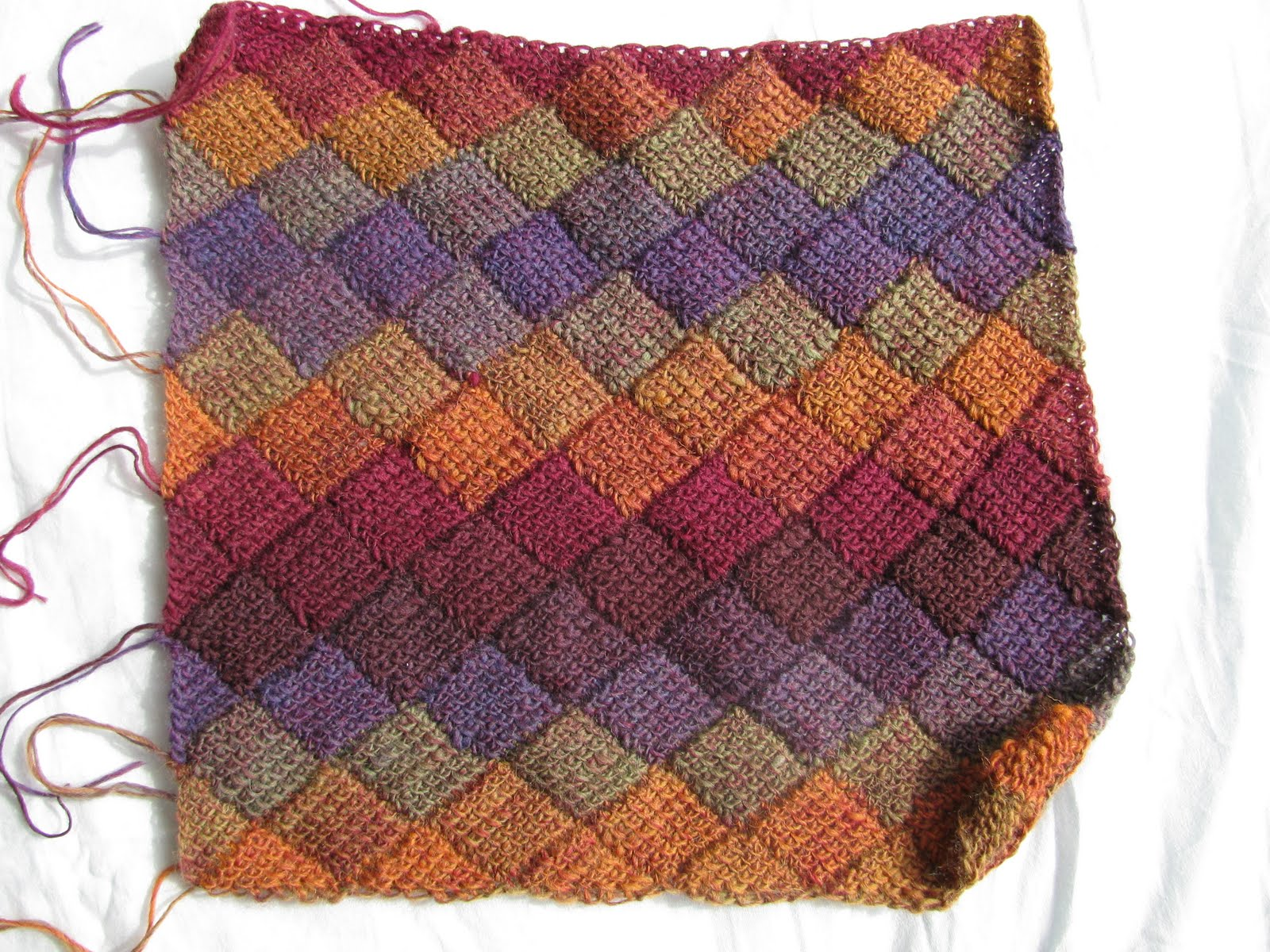 Knitting Stitch Patterns Entrelac : The Kenneth St Boudoir: April 2011