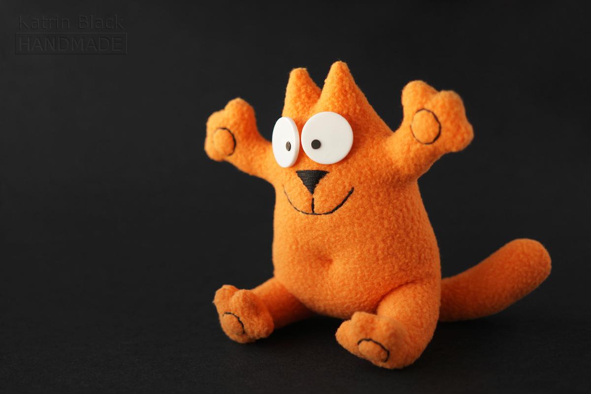 Кот Саймон с гнущимися лапками! Игрушка на проволочном каркасе.