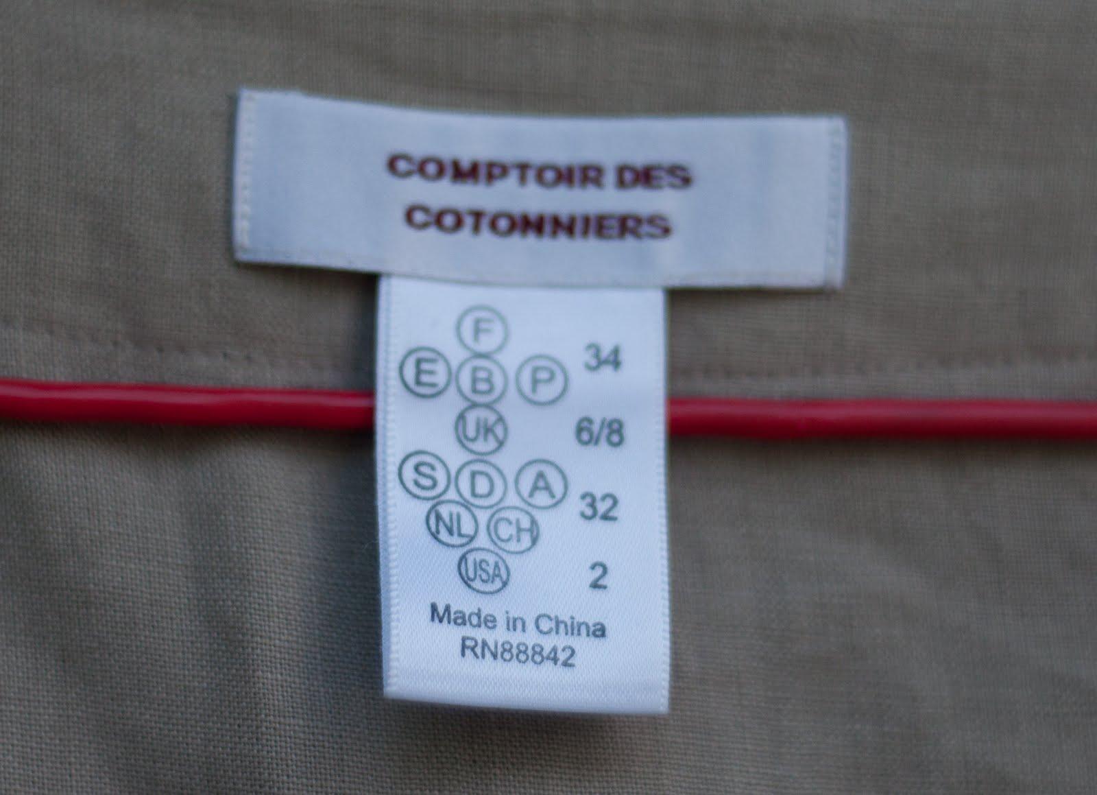 My dressing is free robe tunique en lin comptoir des - Comment taille comptoir des cotonniers ...