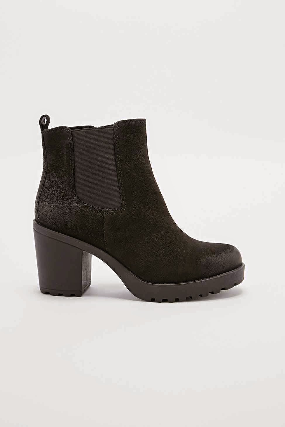vagabond black chunky boot