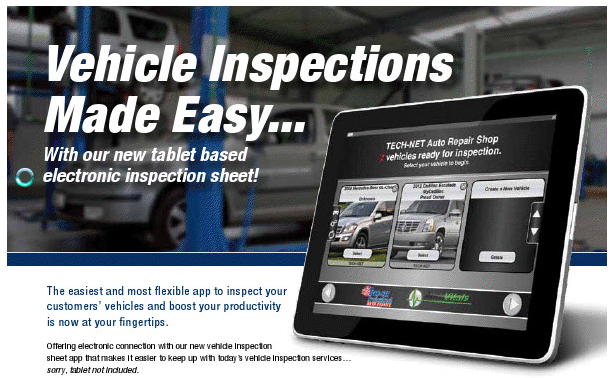 Vehicle Inspection Sheet from D&T Auto Parts Leamington Carquest