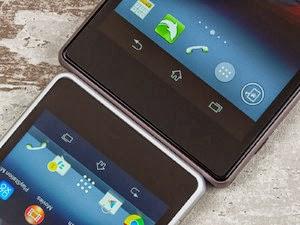 شاشة سونى اريكسون Z1 كومباكت 4.3 بوصة مقابل شاشة سونى اريكسون Z1 5 بوصة