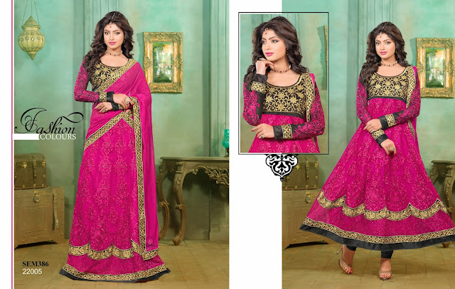 Buy Gorgeous Georgette Embroidered Long Anarkali Suit