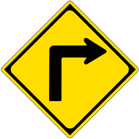 how to take right turn in car