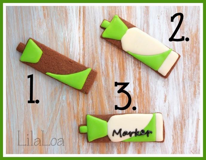 Whiteboard Marker Cookies Tutorial