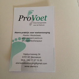 Aterra praktijk voor voetverzorging, pedicure en voetreflex Bennekom Bennekom
