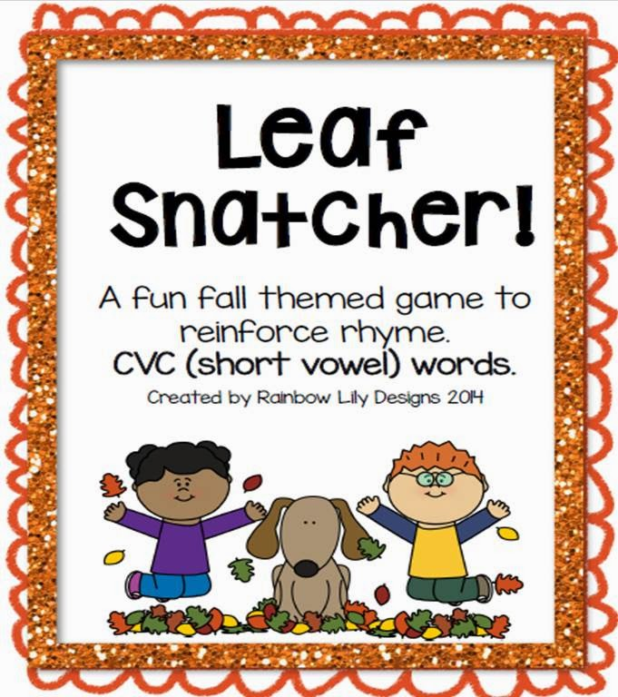 http://www.teacherspayteachers.com/Product/Leaf-Snatcher-CVC-Rhyme-Game-1473359