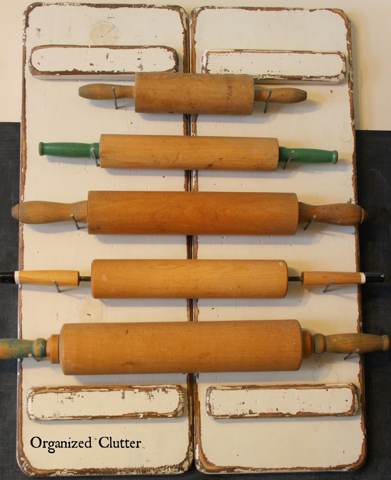 Rolling Pins Displayed on Shutters