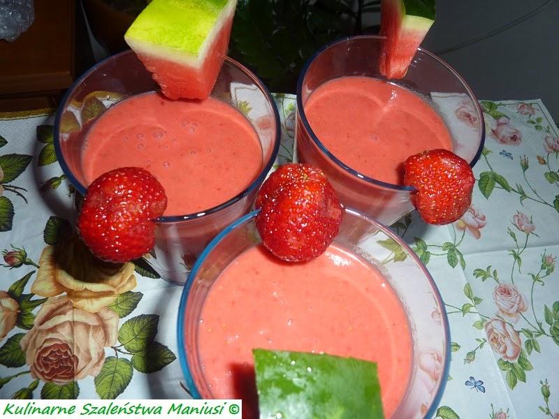 Koktajl truskawkowo - arbuzowy :-)