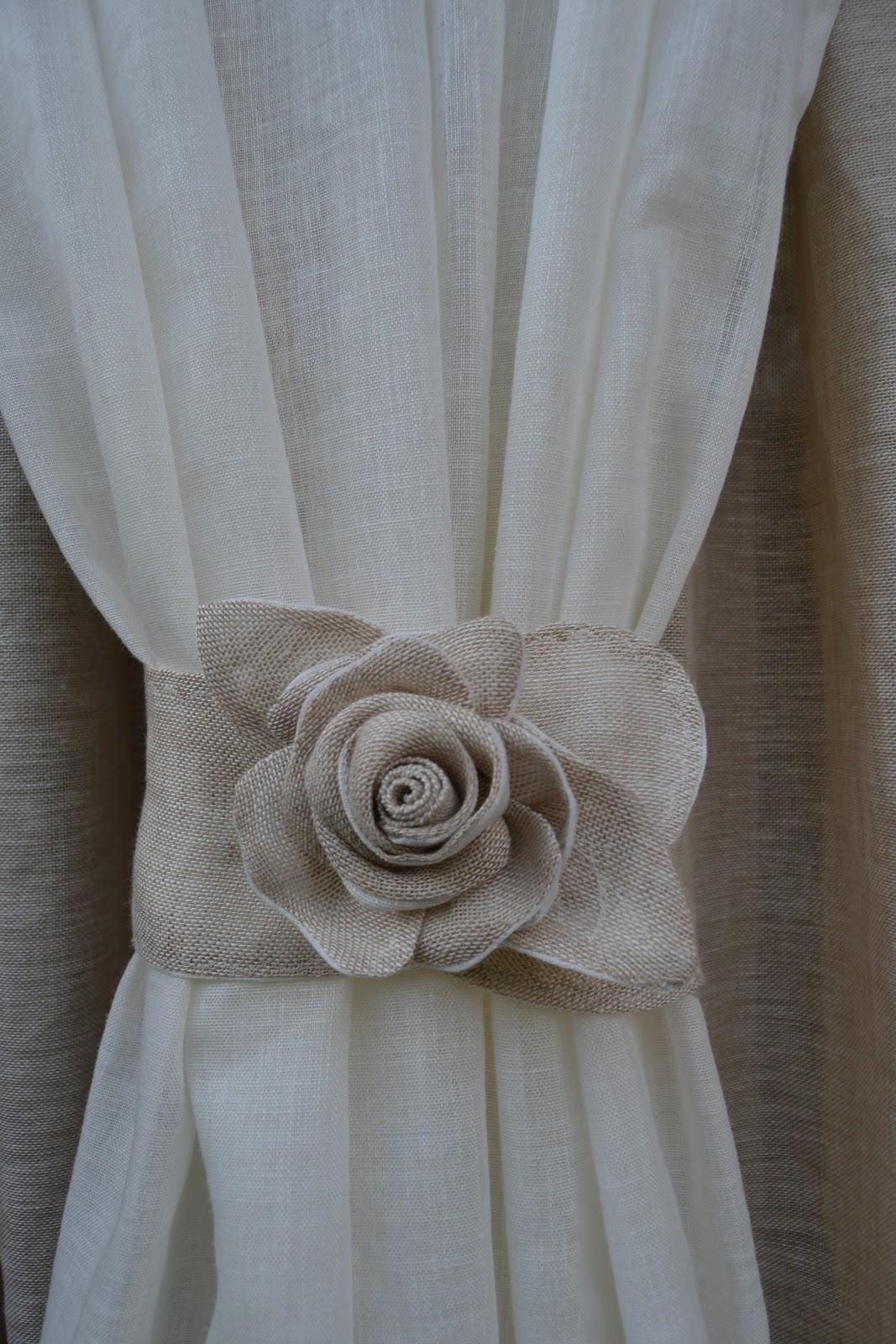 Rosa per tende in lino - Tende di lino per cucina ...