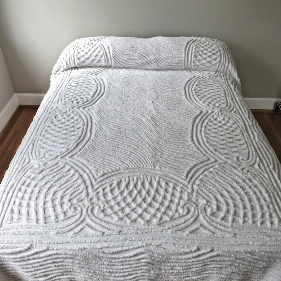 white chenille bedspreads vintage summer bedding