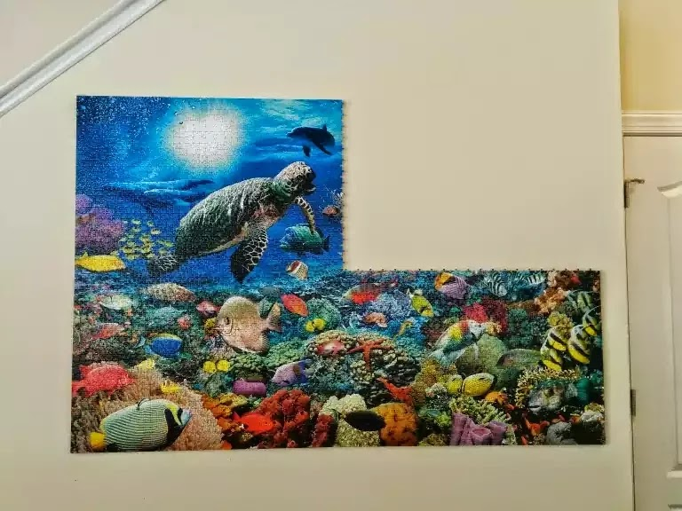 How to mount and hang a jigsaw puzzle without glue in panels