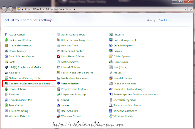 Cara mendapatkan rating windows experience index for R rating for windows