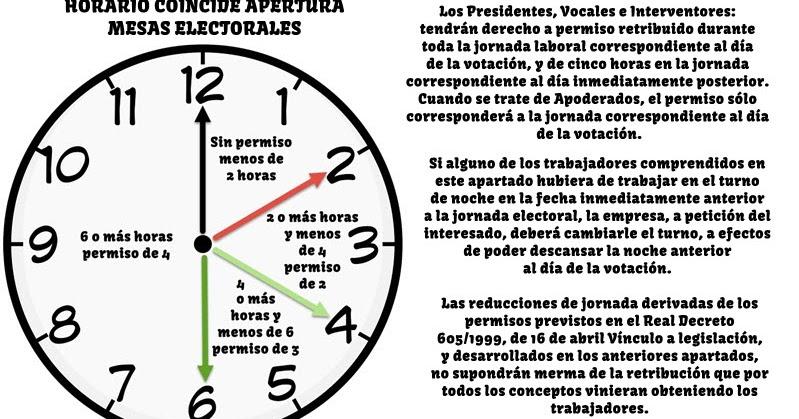 Derechos permisos de trabajo elecciones generales 20 de for Horario oficina inem madrid