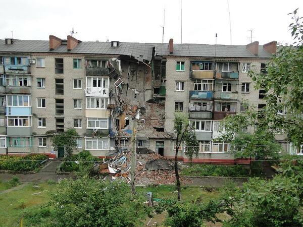 Разрушения в Славянске 2014 фото Бульварная, 4