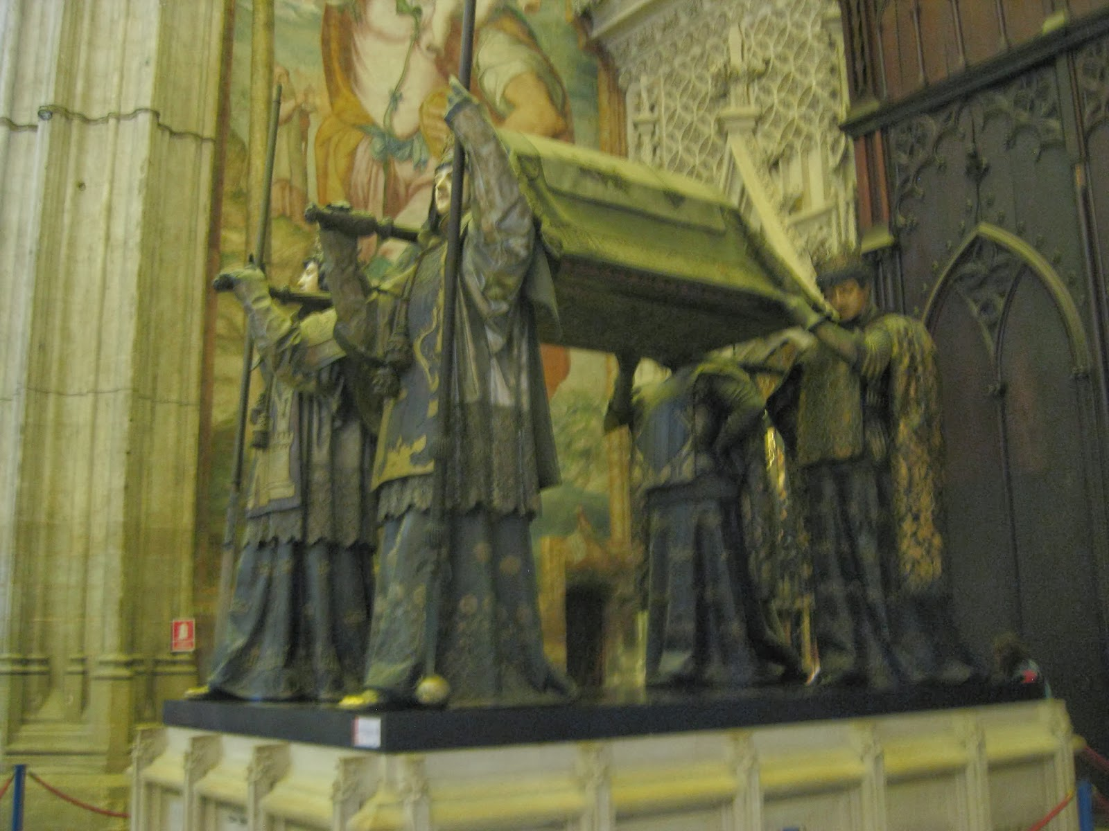 Seville - The tomb of Christopher Columbus