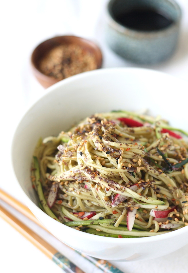 Green Tea Soba Noodle Salad by SeasonWithSpice.com